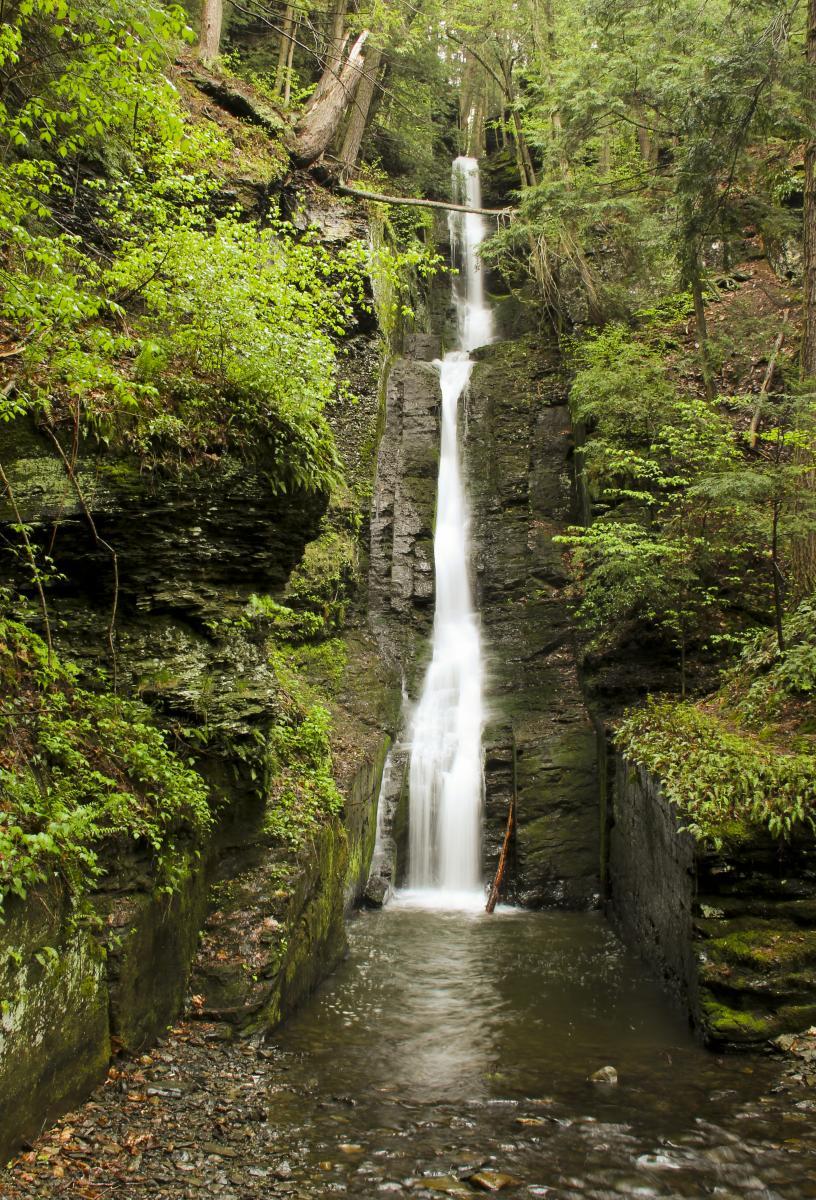 Beautiful Silverthread Falls in the Pocono Mountains