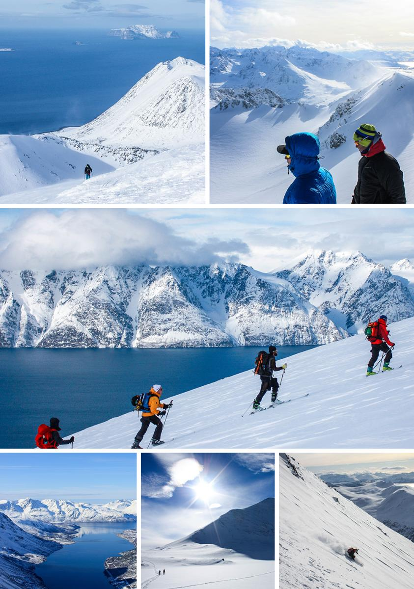 Ski touring in Lyngen