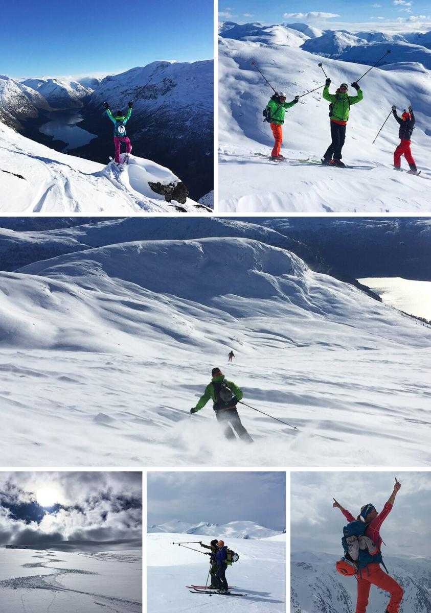 ski touring collage