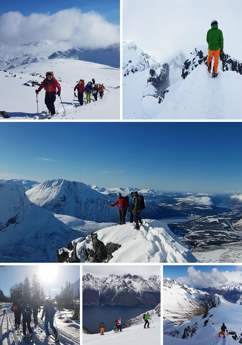 ski touring collage