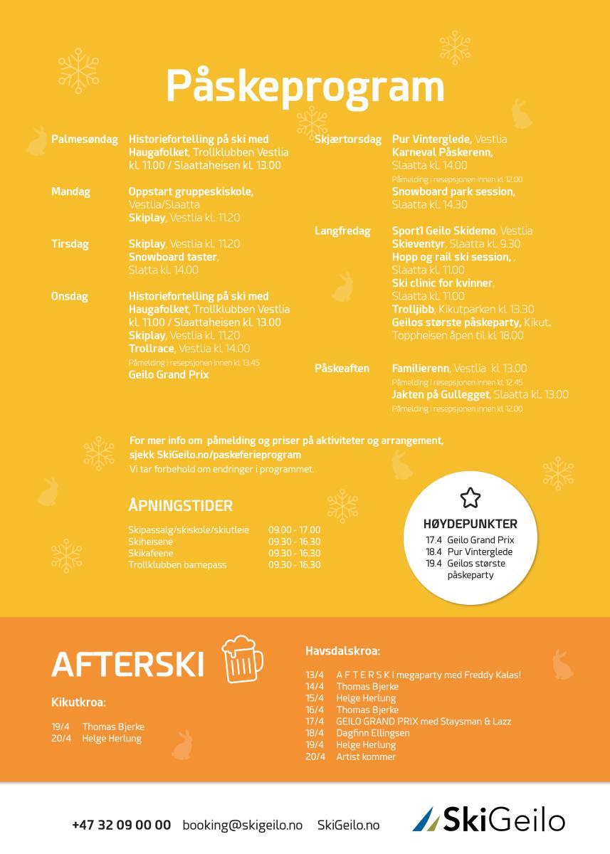 Påskeprogram SkiGeilo 2019 jpg