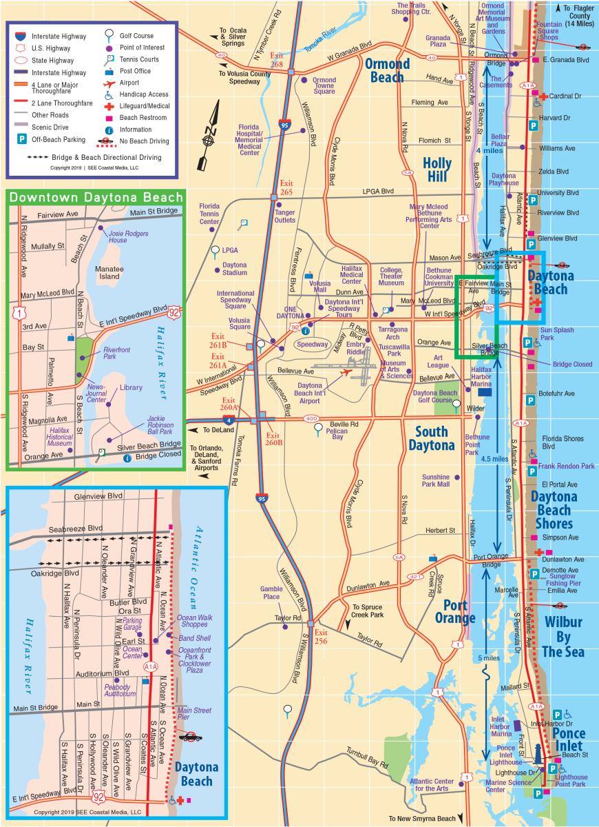 Daytona Beach Area Map