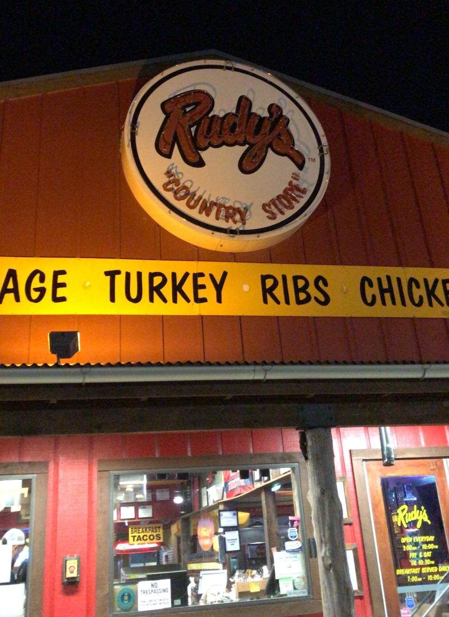 Exterior of Rudy's Barbecue