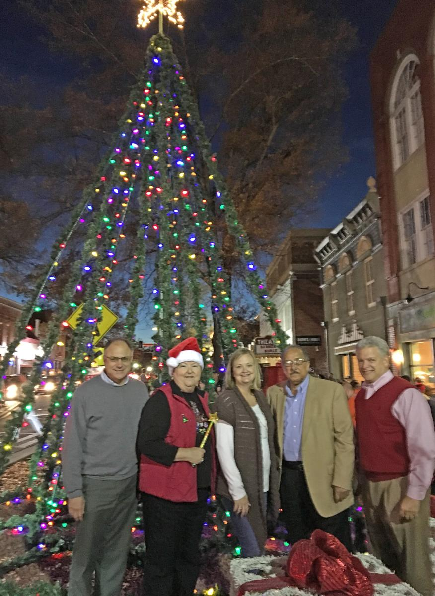 Christmas Tree Lighting downtown