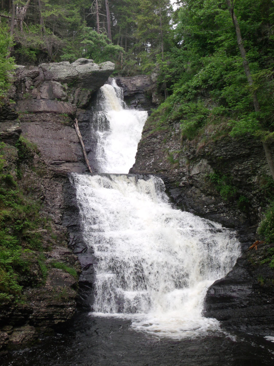 Beautiful Waterfalls in the Pocono Mountains
