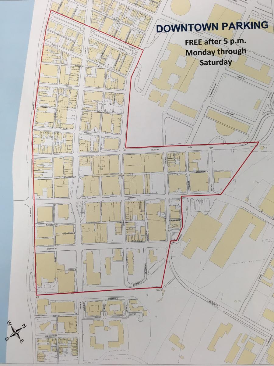 MAP - Free Parking in Harrisburg 2018