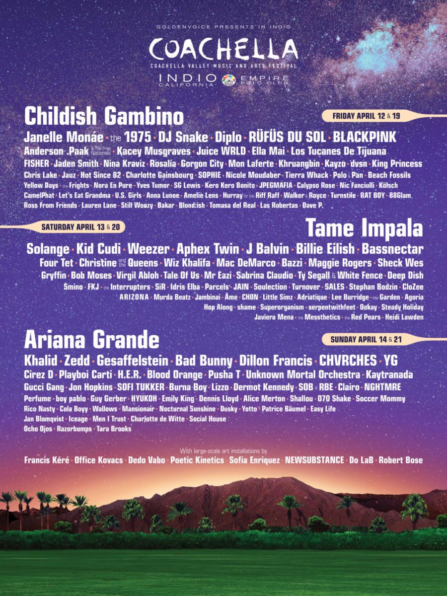 Coachella lineup 2019