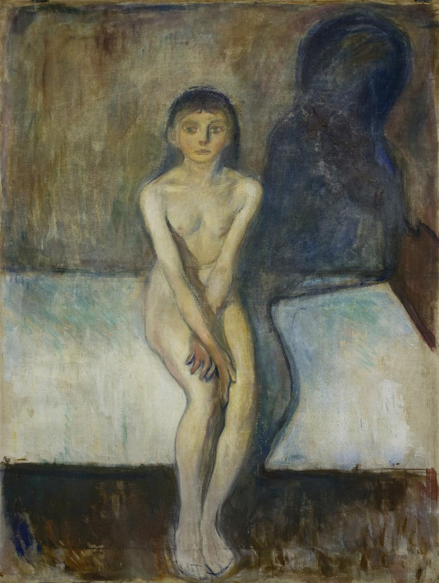 """Puberty"", Edvard Munch (1894)"