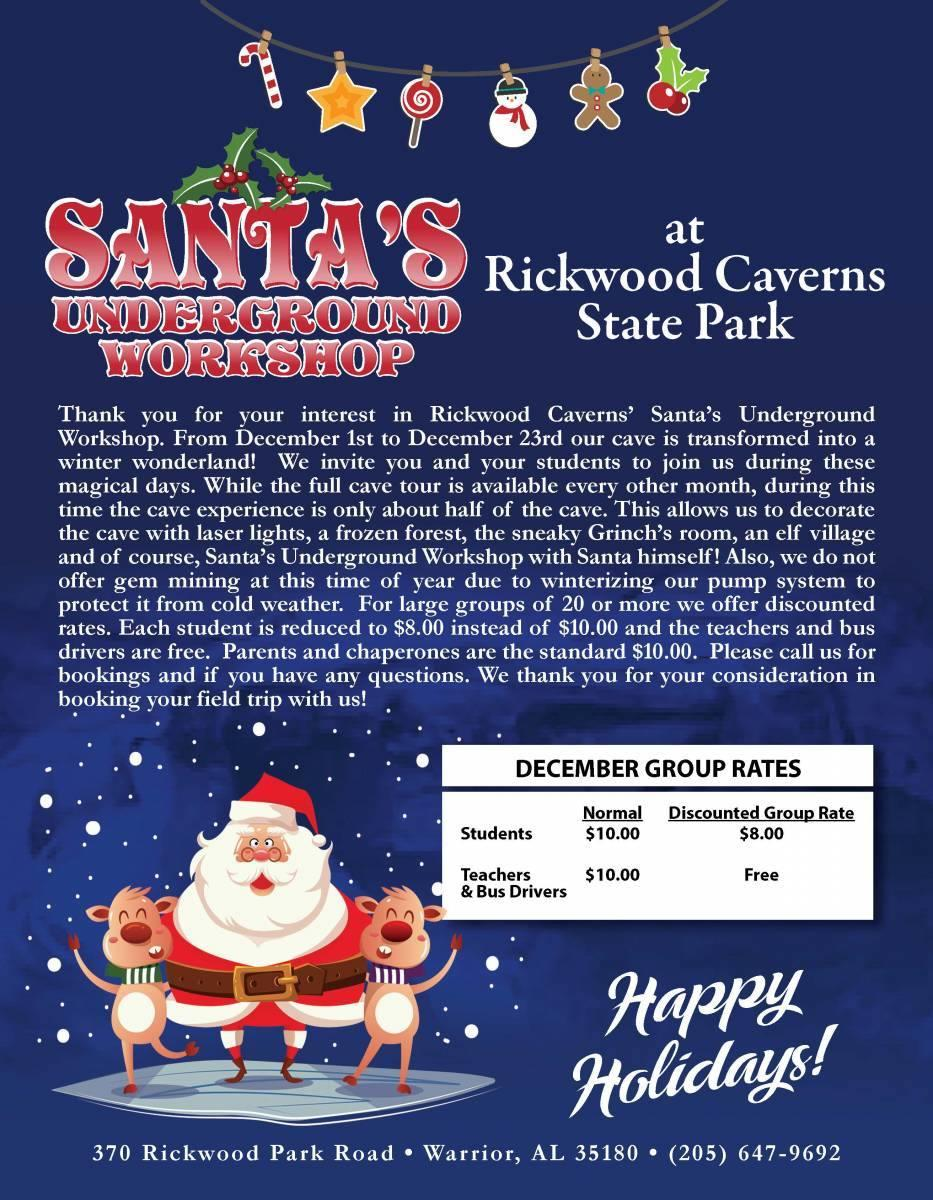 rickwood caverns christmas
