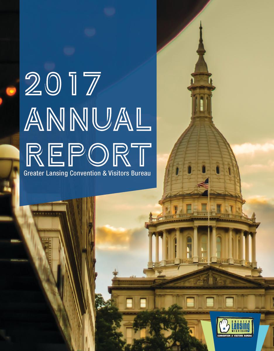 2017 Greater Lansing CVB Annual Report Cover image