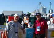 "Captain ""Mickey Mouse"" helped educate young boaters at Empire Farm Days in 2011 with New York Sea Grant's Dave White (right)  and Greg Chapman (left). Photo: Elley Brown"