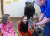 The Young Naturalists learn about animals and how to protect the environment.