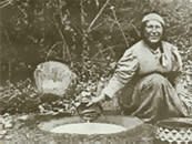 Native American woman bw