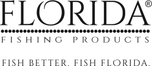 Florida fishing products logo with tagline