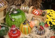 Shop a Unique Glass Farmer's Market: On Columbus Day weekend, October 6–8, 2012, the Museum's international GlassMarket will feature a Glass Farmer's Market, with thousands of glass pumpkins, apples, gourds and other harvest-themed glass objects for sale.