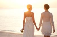 Gay beach wedding