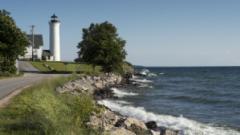 Lighting of Tibbetts Point Lighthouse