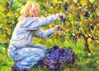 """Harvesting the Grapes"" by Loretta Lepkowski"