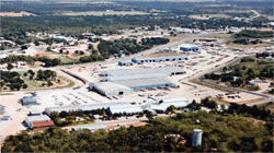 Aerial view of manufacturing facility