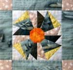 Original pinwheel design by North Country Quilt Guild President Mary Knapp.