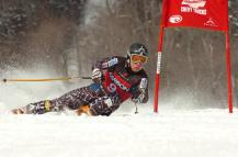 Andrew Weibrecht, the 2010 Olympic men's Super-G bronze medalist from Lake Placid, N.Y., racing at Whiteface in Wilmington, N.Y. Photo courtesy New York State Olympic Regional Development Authority.