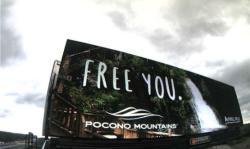 2017 Summer Marketing Campaign - Digital Billboard - Bushkill Falls