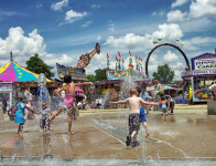 Children Playing at the Three Rivers Festival Midway at Headwaters Park