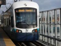 Light Rail Train at Platform