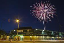 Fireworks at a Daytona Tortugas Baseball Game