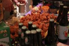 Beers and chicken wings