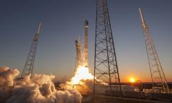 SpaceX Rocket Launch sunset