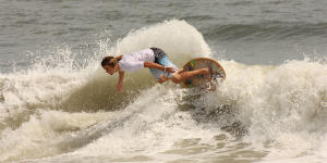 Skimboarding competition in Dewey Beach
