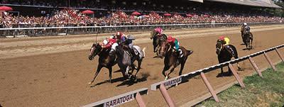 Horse Race at Saratoga Race Course