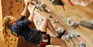 Climbing Wall Girl