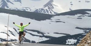 Biking Snowy Peaks
