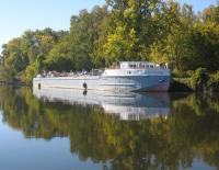The historic canal motorship Day Peckinpaugh