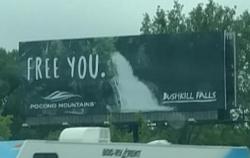 2017 Summer Marketing Campaign - Static Billboard - Bushkill Falls
