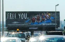 2017 Summer Marketing Campaign - Static Billboard - Pocono Whitewater
