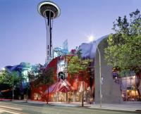 Experience Music Project Entrance and Space Needle