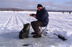 Ice fishing in Minocqua, WI