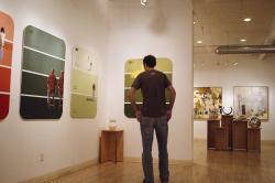 Man in Boulder Art Gallery