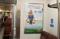 2017 Summer Marketing Campaign -  Transit - NJT - Interior Rail Card - Pocono Mountains Visitors Bureau
