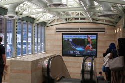 2017 Summer Marketing Campaign - NY Penn Station Digital Wall - Pocono Mountains Visitors Bureau