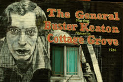Buster Keaton Mural by Buzz Summers