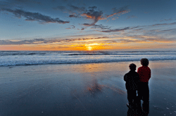 Watching the Coastal Sky at Sunset by Quentin Furrow