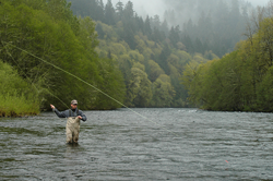 Fly Fishing on the McKenzie River by Alex K Morley