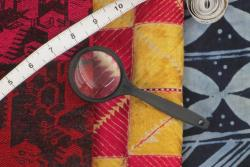 """""""Teaching with Textiles: Collections in the Classroom and the Community"""" exhibition"""