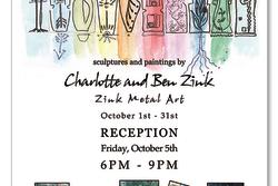 Trimble Court Artisans - A Little Levity - sculpture and paintings featuring Charlotte and Ben Zink