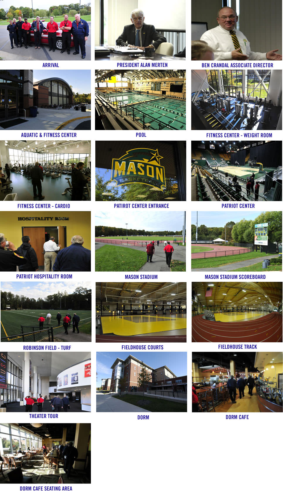 2015 World Police & Fire Games Site Inspection: GMU Image Gallery