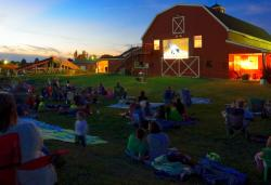 Movie on barn